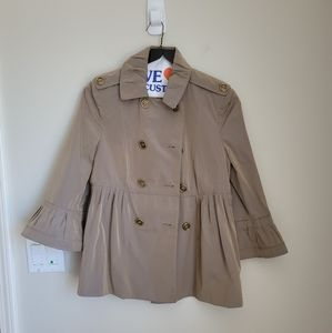 Burberry Bell Sleeve Trench Jacket